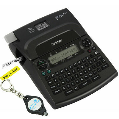 Brother P-touch Pt-1890w Thermal Machine Label Printer Maker 2 Tapes Keychain
