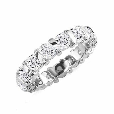 3ctw Natural Tension Set Brilliant Round Diamonds Eternity Ring 14K 18K Gold