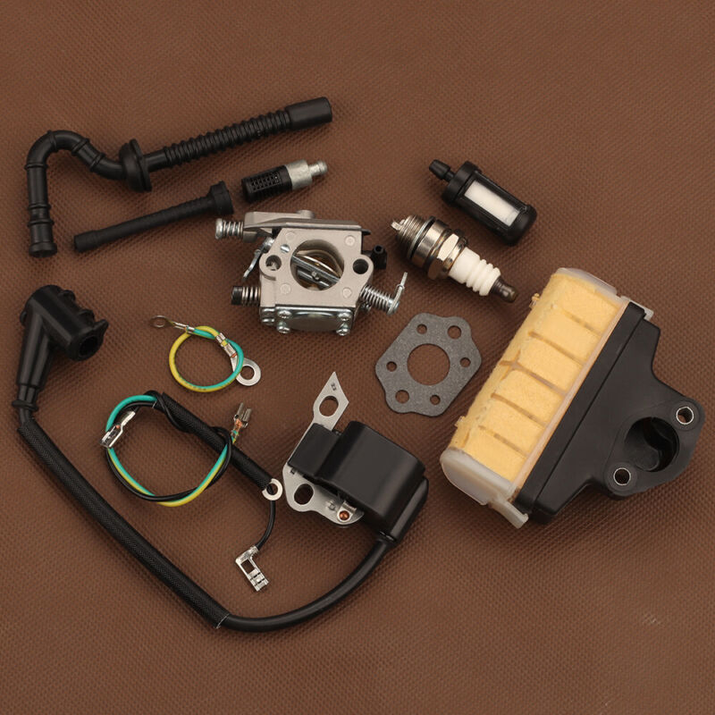 Carburetor For STIHL MS250C 021 023 025 Chainsaw Ignition coil Air filter WT-286