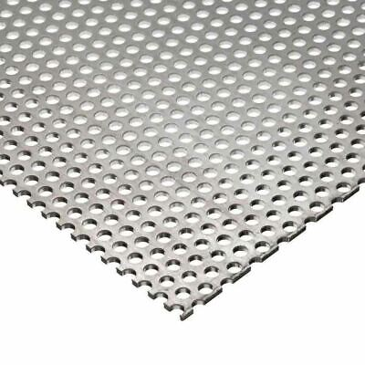 304 Stainless Steel Perforated Sheet .035 20 Ga. X 12 X 24 - 18 Holes