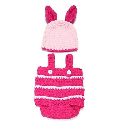 Baby Girls Boy Newborn-24Month Knit Crochet Hat Cap Outfits Set Photograph Prop