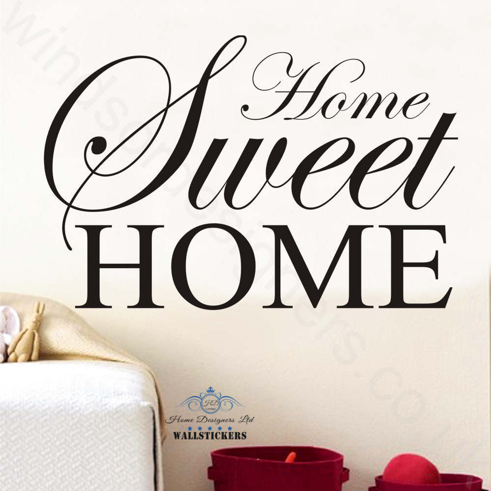 home sweet home wall art sticker quote large decor