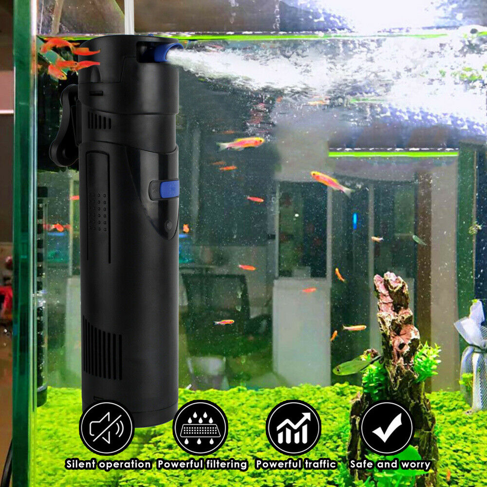 Aquarium Innenfilter Aquariumpumpe Filterpumpe Aquarien Schwammfilter 300-450L/H