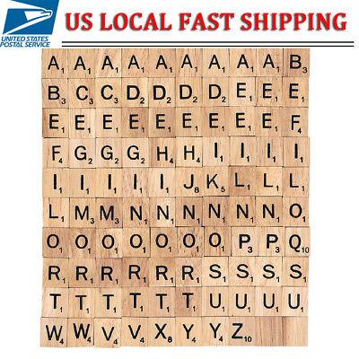 100pcs Wooden Square Alphabet Scrabble Tiles Letters Crafts As - Alphabet Tiles