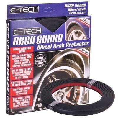 E-Tech Self Adhesive Universal Vehicle Arch Guard Wheel Trim Protector - Black