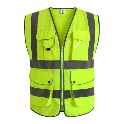 Jksafety Yellow Breathable Reflective Safety Vest Classic 9 Ansi Class 2