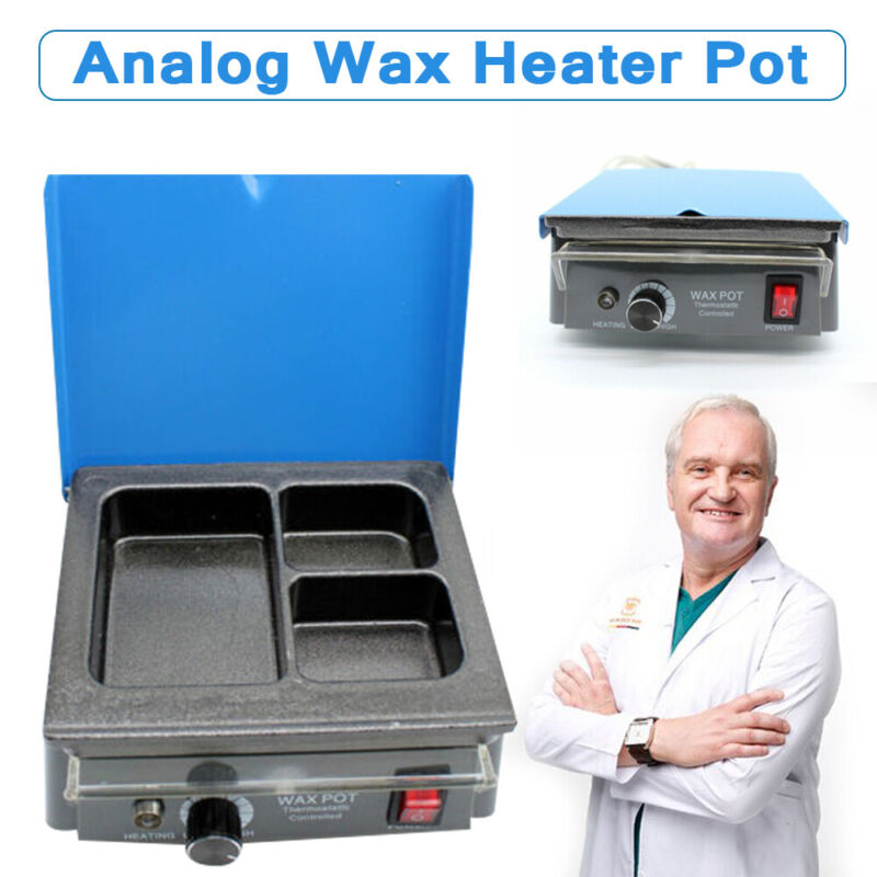 Dental Lab 3-Pot Analog Paraffin Heater Paraffin Melter Dipping Machine