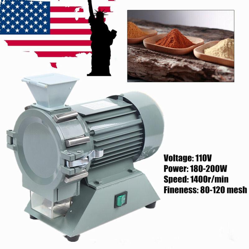 Micro Plant Grinding Machine Grain Mill Plant Soil Pulverizer 1400rpm Crusher US