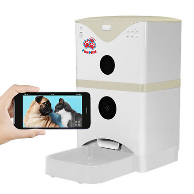 FunPaw 6L Automatic Pet Feeder for Cats/Dogs: Scheduled Feeding, Monitoring & 2-
