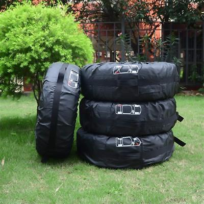 "4pcs 16""-20"" Car Spare Tire Cover For Summer Winter Tyre Protector Storage Bags"