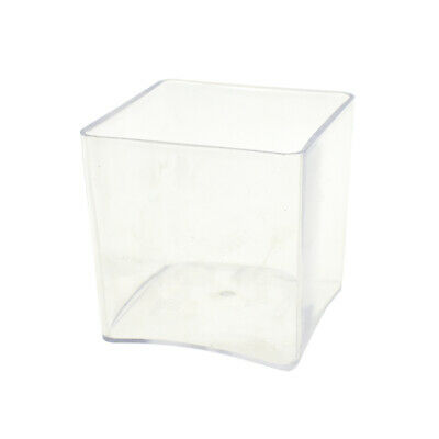 Clear Plastic Square Vase Display, 6-Inch x 6-Inch](Clear Plastic Vase)