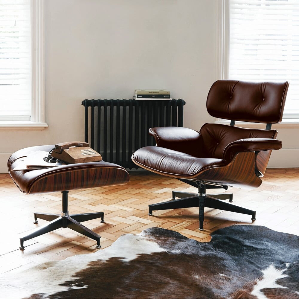 Remarkable Charles Eames Inspired Lounge Chair Ottoman Classic Uwap Interior Chair Design Uwaporg