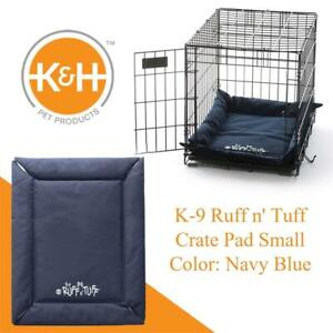 NEW KH Pet Products K-9 Ruff n Tuff Crate Pad Small Navy Blue (20 x 25) - 1260 Denier Rip-Stop Polyester for Pets ...