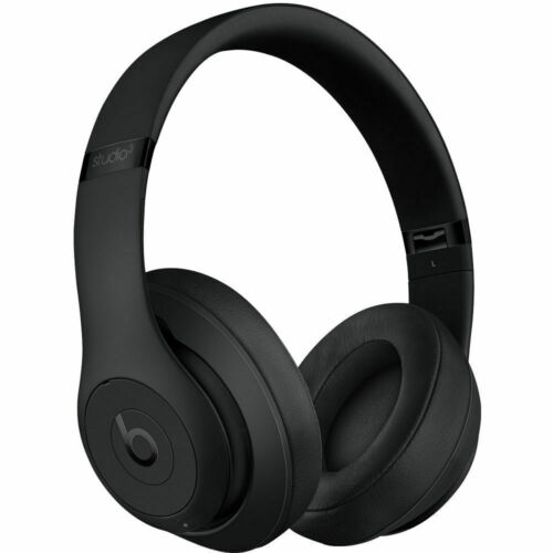 Beats By Dre STUDIO3 WIRELESS MATTE BLACK Bluetooth Over Ear Headphones GRADE A