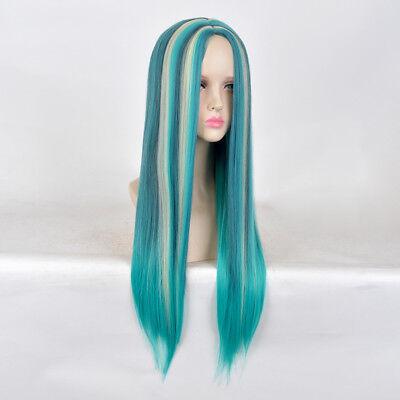 Descendants 2 Uma cosplay wig long blue hair teen kid children small little - Kids Blue Wig