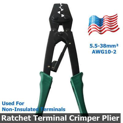 Wx-38 Ratchet Terminal Crimper Plier Labor-saving Tool Bare Terminal 5.5-38mm