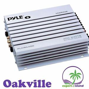 Pyle Marine Audio (PLMRA400) 4 Channel 400 Watt Waterproof Marine Amplifier