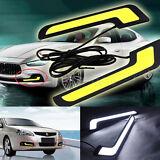 2x Super White 12V LED COB Auto Car DRL Driving Daytime Running Lamp Fog Light