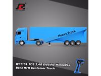 Heavy Truck RTR RC Car RUICHUANG QY1101 1/32 2.4G Electric Mercedes Benz Container