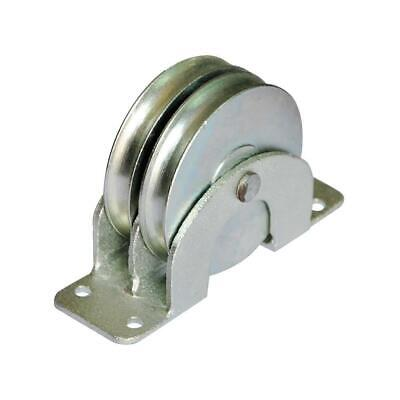 Double Pulley Blockflat Mount660 Lb. Capacity14 Wire Rope Max