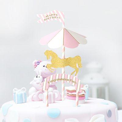 er Picks Decoration Birthday Cake Topper Insert Party (Cupcake-banner)