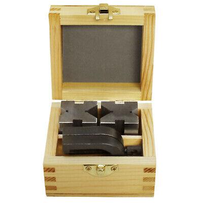 "1-5/8"" x 1-1/4"" x 1-1/4"" Precision V Blocks & Clamp Set Steel Gauge Machinist"