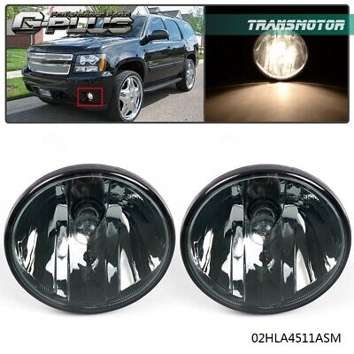 2PCS Fog Lamps Smoke Lens Light For Tahoe Avalanche Yukon Suburban 2007-2013