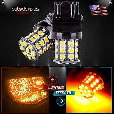 2pcs 3157 3156 33SMD Reverse Brake/Stop/Turn Tail Back Up LED Light Bulb White