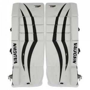 ee700feea3f New Vaughn Xf youth goalie leg pads White Black 22