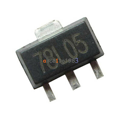 20pcs 78l05 L78l05 7805 Voltage Regulator 5v 100ma Sot-89 Smd