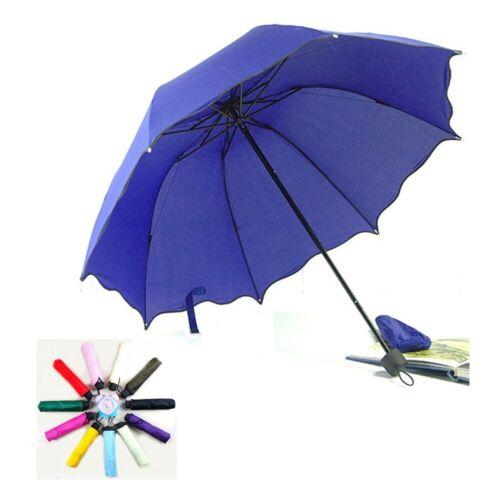 Folding Windproof Anti UV Clear/Rain Compact Parasol Lacewor