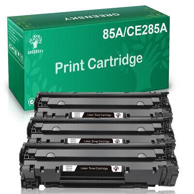 3PK CE285A 85A Toner Cartridge for HP LaserJet M1212nf P1102W M1522n M1522nf ()