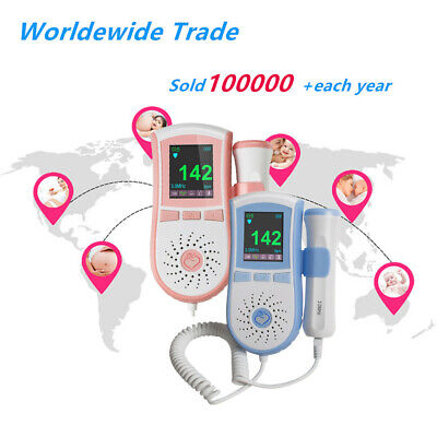 Home Pocket Prenatal Fetal Doppler Baby Heart Beat Monitor Pregnancy 3mhzgel