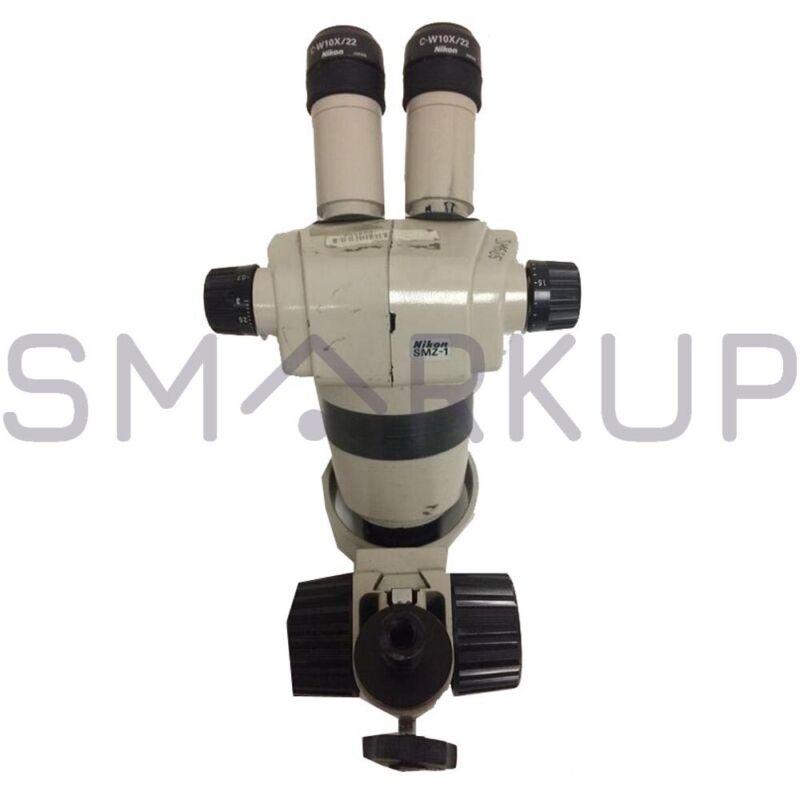 Used NIKON SMZ-1 Stereo Microscope Head w/ Eyepiece & Objective Lens *No base*