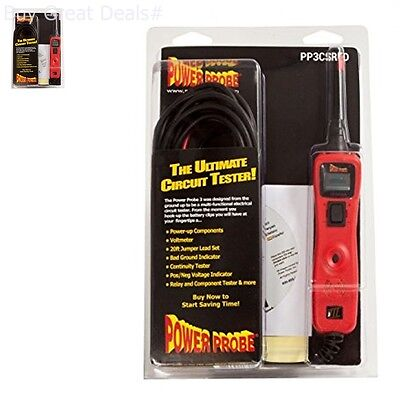 Power Probe Iii Circuit Tester Red Clam Shell Pp3csred