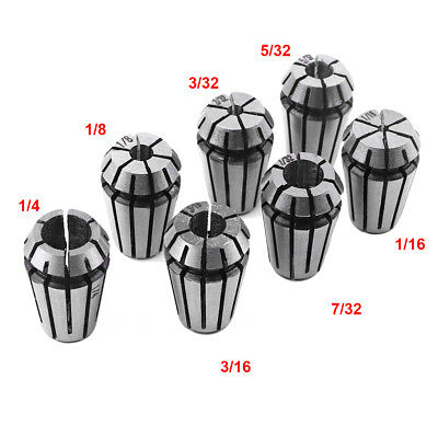 7pcs Er11 Spring Collet Set For Cnc Milling Lathe Tool Engraving Machine Steel