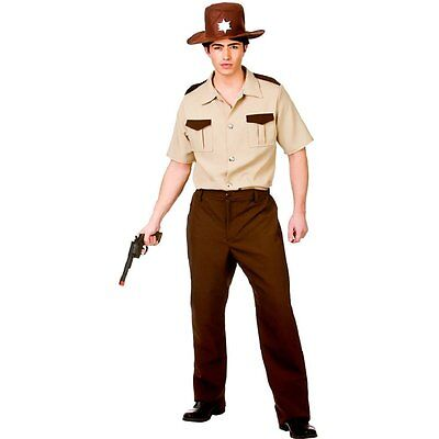 US Sheriff Adult Mens Costume Policeman Cop Marshall Deputy Sizes Chest 37
