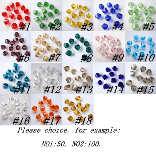 Beads - Lots 50/100pcs 6mm swarovski crystal jewelry bicone loose beads jewelry making