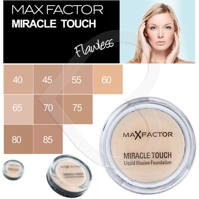 Max Factor Miracle Touch Liquid Illusion Foundation 11.5g Choose from 9 Shades