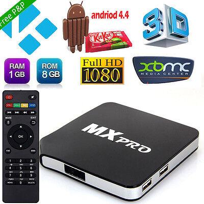 MX Pro Fully Loaded Quad Core Android 4.4 TV Box Media Player XBMC KODI M8S UK