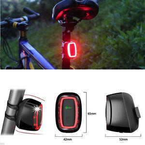 X6 Smart Bike Rear Bike Tail LED Cycling Bicycle 16 LED 6 Mode Flash Light Lamp