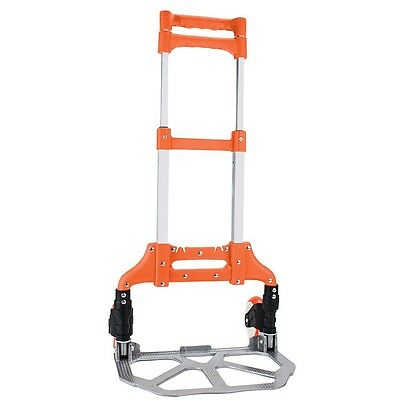 Orange 40 Aluminum Folding Hand Truck Trolley Rolling Cart Holds Up To 150 Lbs