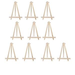 10pcs 9inch artist easel wood tripod table top display photos decorative plates - Table Top Easel
