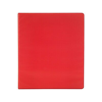 Staples Simply 1-inch Round 3-ring Binder Red 26647 1337690
