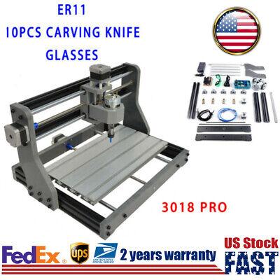 3-axis Cnc Mini Laser Engraving Machine Wood Carving Diy Kit 500mw Laser Head