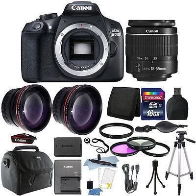 Canon EOS 1300D/T6 18MP DSLR Camera + 18-55mm Lens + 16GB Accessory Kit