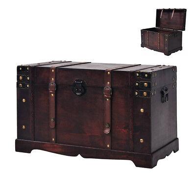 Schatztruhe Holz Vintage Schatzkiste Holztruhe Aufbewahrungsbox Couchtisch Groß
