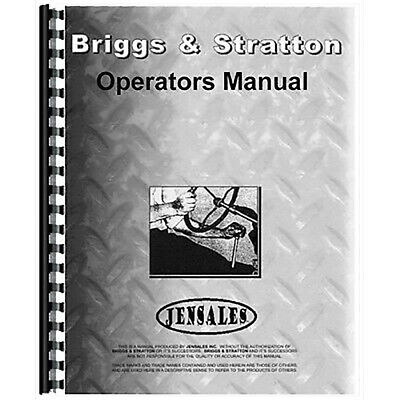 New Tractor Operator Manual Bs-o-wmb Fits Briggs And Stratton