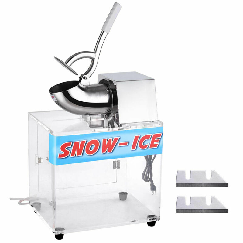250W Electric Snow Cone Maker Shaver Ice Crushing Machine 2500 r/m 440 lbs