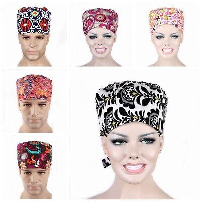 Nursing Hat (Women Men Doctor/Nurses Printing Scrub Cap Medical Surgical Surgery Newest)